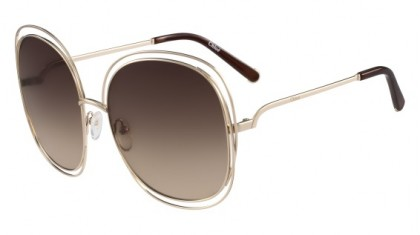 Chloé Carlina CE126S 784 Rose Gold Transparent Brown - Brown Shaded