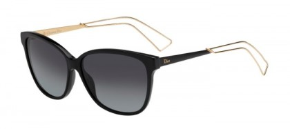 Christian Dior DIORCONFIDENT2 QFE (HD) Black Rose Gold - Grey Shaded