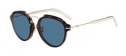 Christian Dior DIORECLAT UGM (72) Havana Rose Gold - Blue