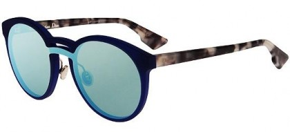Christian Dior DIORONDE1 QYI (A4) Matte Blue Light Havana - Azure Mirror
