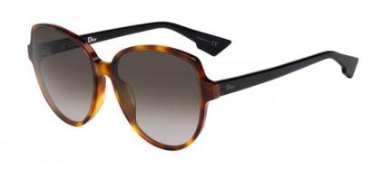 Christian Dior DIORONDE2 5FC (HA) Shiny Dark Havana Black - Brown