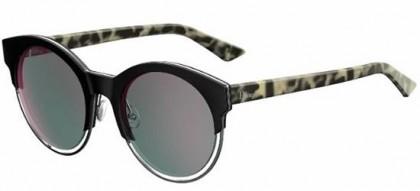 Christian Dior DIORSIDERAL1 XV5 (0J) Black Ruthenium Grey Havana - Grey Rose Gold Mirror