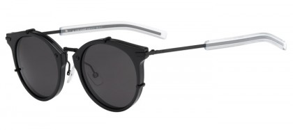CHRISTIAN DIOR HOMME DIOR0196S GVB  (Y1) Matte Black Shiny Black - Grey