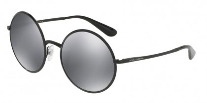 Dolce & Gabbana 0DG2155 11066G DNA Black - Light Grey Mirror Black