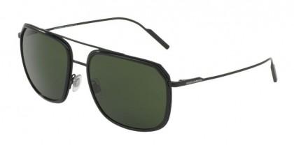 Dolce & Gabbana 0DG2165 110671 Black Matte Black - Grey Green