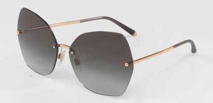 Dolce & Gabbana 0DG2204 12988G Pink Gold - Light Grey Gradient Black