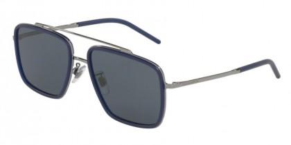 Dolce & Gabbana 0DG2220 04/80 Gunmetal/Matte Blue - Dark Grey
