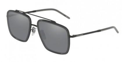 Dolce & Gabbana 0DG2220 11066G Matte Black/Transparent Grey - Light Grey Mirror Black