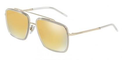 Dolce & Gabbana 0DG2220 488/7P Pale Gold/Crystal - Brown Mirror Gold