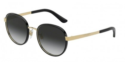 Dolce & Gabbana 0DG2227J 02/8G Black/Gold - Grey Gradient