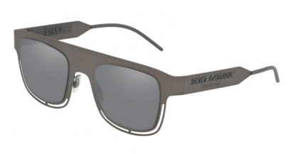Dolce & Gabbana 0DG2232 12866G Dark Gunmetal - Light Grey Mirror Black