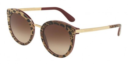 Dolce & Gabbana 0DG4268 315513 DNA Leo On Bordeaux - Brown Gradient