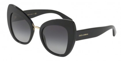 Dolce & Gabbana 0DG4319 501/8G Black - Grey Gradient