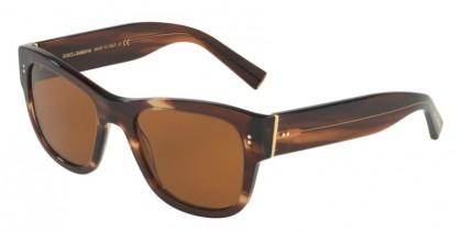 Dolce & Gabbana 0DG4338 306373 Striped Brown - Brown