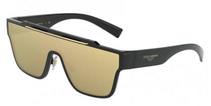 Dolce & Gabbana 0DG6125 501/03 Black - Clear Mirror Real Yellow Gold