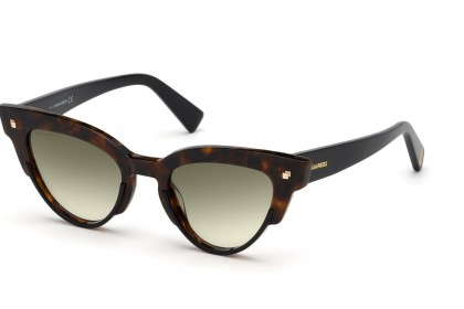 DSquared2 DQ0306 52P Havana - Green Shaded