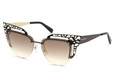 DSquared2 DQ0312 49G Dark Brown - Brown Shaded