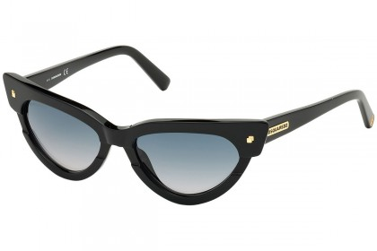 DSquared2 DQ0333 MAGDA 01P Shiny Black - Green Gradient