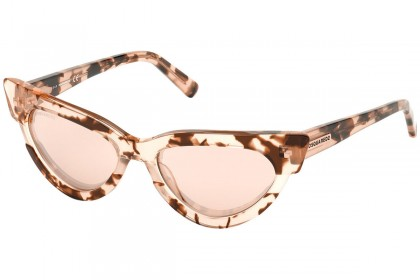 DSquared2 DQ0333 MAGDA 55U Colored Havana - Mirrored Bordeaux