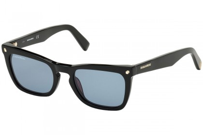 DSquared2 DQ0340 CAT 01V Shiny Black - Blue