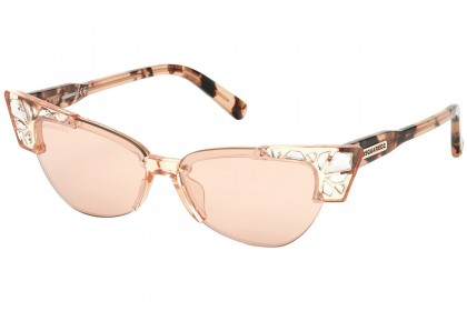 DSquared2 DQ0341 BELLA 74U Pink - Mirrored Bordeaux
