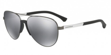 Emporio Armani 0EA2059 30106G Matte Gunmetal - Light Grey Mirror Black