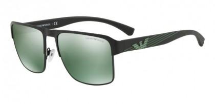 Emporio Armani 0EA2066 30016R Matte Black - Light Green Mirror Petrol