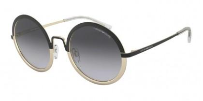 Emporio Armani 0EA2077 30018G Matte Black/Matte Pale Gold - Grey Gradient