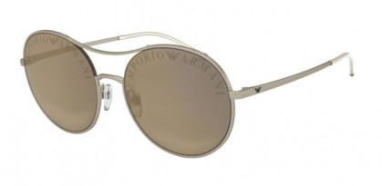 Emporio Armani 0EA2081 30025A Matte Pale Gold - Light Brown Mirror Dark Gold