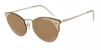 Emporio Armani 0EA2082 31697P Light Gold - Dark Brown Mirror Gold