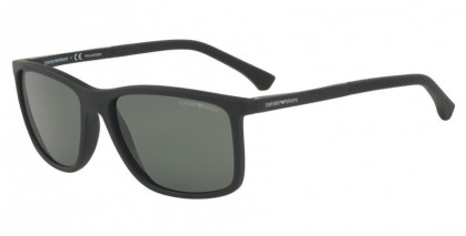 Emporio Armani 0EA4058 56539A Black Rubber - Green Polarized