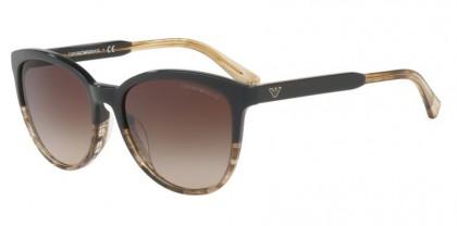 Emporio Armani 0EA4101 556713 Brown Transparent Striped Beige - Brown Gradient
