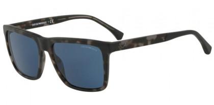 Emporio Armani 0EA4117 570380 Matte Grey Havana - Dark Blue