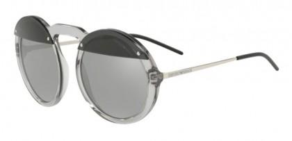 Emporio Armani 0EA4121 57076G Transparent Grey - Light Grey Mirror Silver