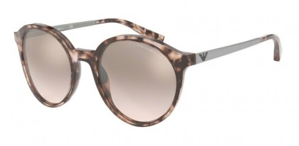 Emporio Armani 0EA4134 57668Z Pink Havana - Light Brown Mirror Silver Grad