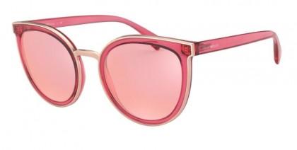 Emporio Armani 0EA4135 5769/Z Transparent Raspberries - Pink Mirror Rose Gold