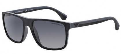 Emporio Armani MODERN (AR) 0EA4033 5229T3 Black Grey Rubber - Grey Gradient Polarized