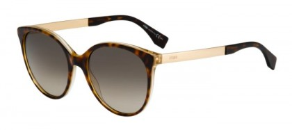 Fendi FF 0078/S DVO  (HA) Havana Gold - Brown Gradient