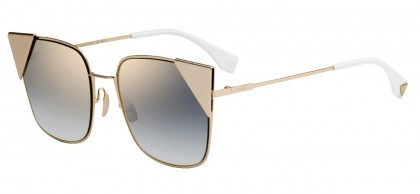 Fendi FF 0191/S 000 (FQ) Copper Gold - Gray Gradient Mirror