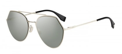 Fendi FF 0194/S 3YG (0T) Light Gold - Grey Mirror