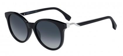 Fendi FF 0231/S 807/9O Black Silver - Grey Blue Shaded