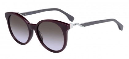 Fendi FF 0231/S S85/QR Burgundy Silver Grey - Brown Shaded