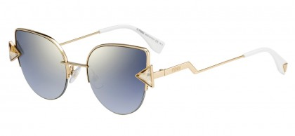 Fendi FF 0242/S 000 (FQ) Copper Gold - Grey Gradient Mirror
