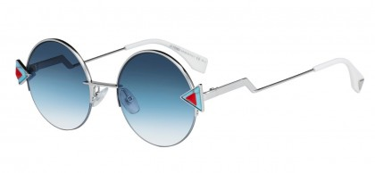 Fendi FF 0243/S SCB/NE Silver Light Blue Red - Blue Shaded