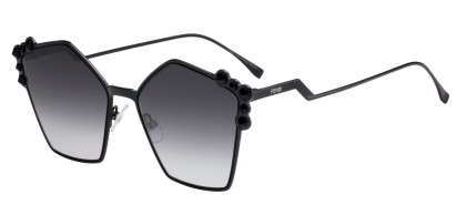 Fendi FF 0261/S 2O5 (9O) Black - Dark Grey Gradient