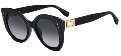 Fendi FF 0265/S 807 (9O) Black - Dark Grey Gradient