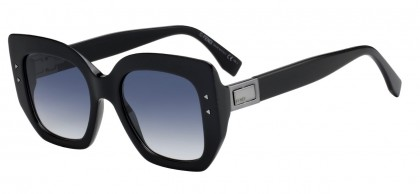 Fendi FF 0267/S 807 (08) Black - Dark Blue Gradient