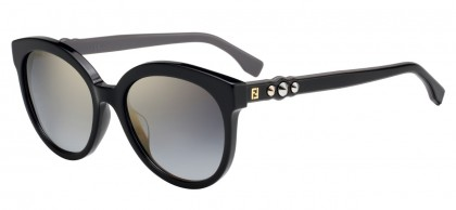 Fendi FF 0268/S 807 (FQ) Black - Grey Gradient Mirror