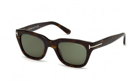 Tom Ford FT0237 52N Shiny Dark Havana - Grey Green
