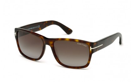 Tom Ford FT0445 52B Dark Havana - Smoke Gradient